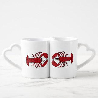 Caneca náutica dos amantes da praia da lagosta