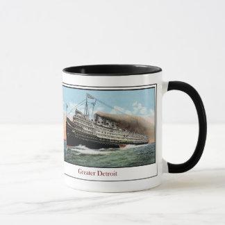 Caneca Navio a vapor maior Detroit