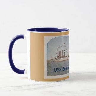 Caneca Navio de guerra Ohio de USS (BB12)