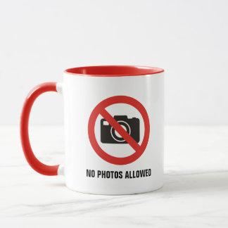Caneca Nenhumas fotos permitidas