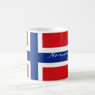 Caneca norueguesa da lembrança da bandeira de