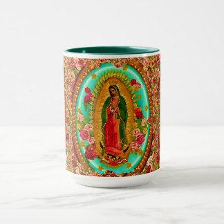 Caneca Nossa Virgem Maria mexicana do santo da senhora