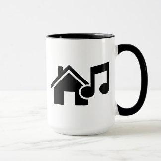 Caneca Nota da música da casa