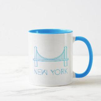 Caneca Nova Iorque da ponte de Brooklyn  