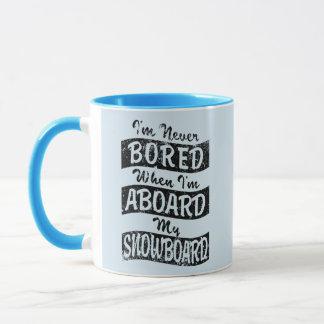 Caneca Nunca furado A BORDO de meu SNOWBOARD (preto)