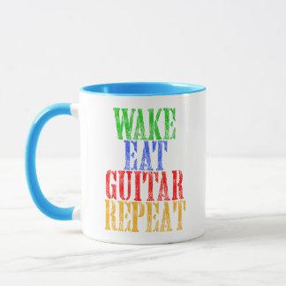 Caneca O acordar come a repetição da GUITARRA