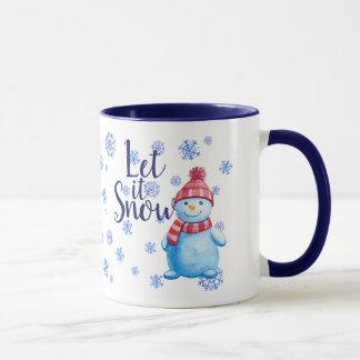 Caneca O boneco de neve deixou-o nevar