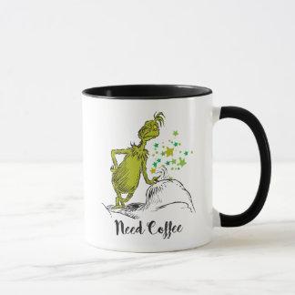 Caneca O café da necessidade de Grinch |