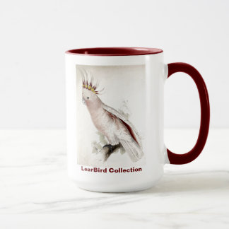 Caneca O Cockatoo de Leadbeater do pássaro de Edward Lear