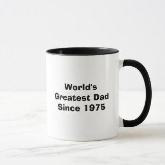 Caneca O grande pai do mundo desde 1975 - personalizado