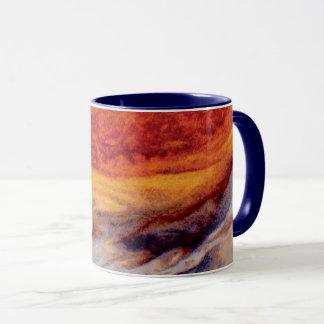 Caneca O grande ponto vermelho de Jupiter - foto do