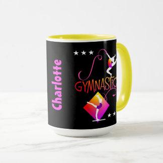 Caneca O Gymnast figura a ginástica bonito das meninas