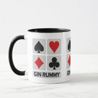 Caneca O jogador do Rummy de gim agride - escolha o
