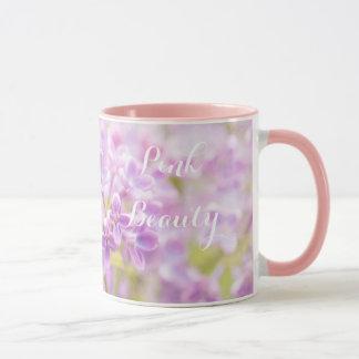 Caneca O Lilac floresce a névoa