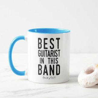 Caneca O melhor guitarrista (talvez) (preto)