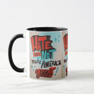 Caneca O ódio não faz o copo do excelente de América