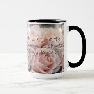 Caneca O preto feito sob encomenda rosas da campainha de