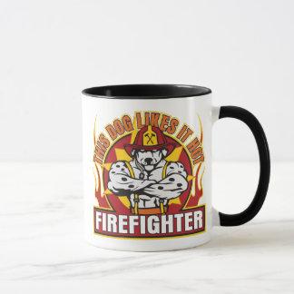 Caneca O sapador-bombeiro gosta d quente