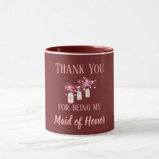 Caneca Obrigado sendo minha madrinha de casamento