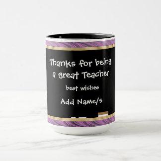 Caneca Obrigados personalizados ao professor