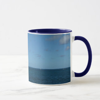 Caneca Oceano do azul do horizonte de St Lucia