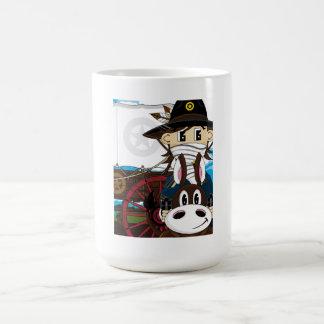 Caneca ocidental selvagem do xerife do vaqueiro