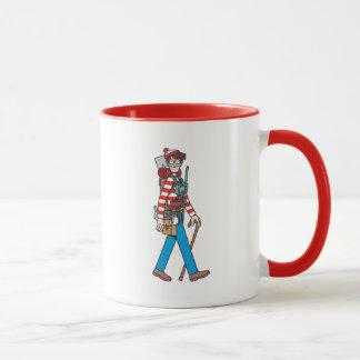 Caneca Onde está Waldo com todo seu equipamento