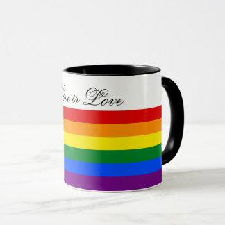 Caneca Orgulho gay da lésbica da bandeira LGBT do