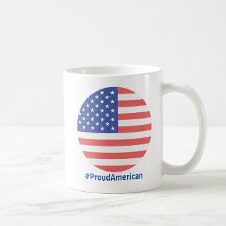 Caneca orgulhosa da bandeira do círculo dos EUA do