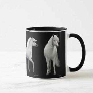Caneca orgulhosa dos cavalos brancos