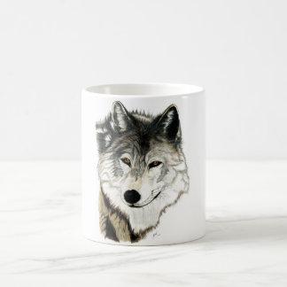 Caneca original da arte do lobo