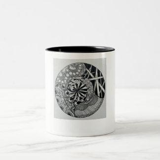 Caneca original preto e branco do zen da mandala