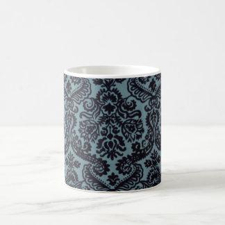 Caneca ornamentado azul