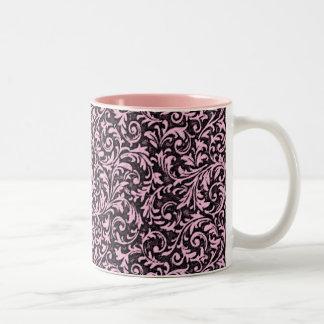 Caneca ornamentado cor-de-rosa