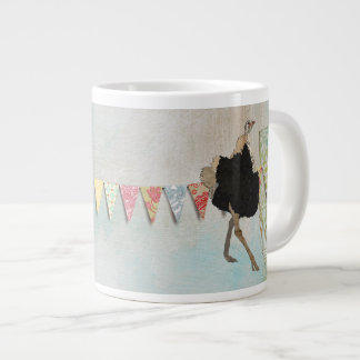 Caneca ornamentado da avestruz jumbo mug