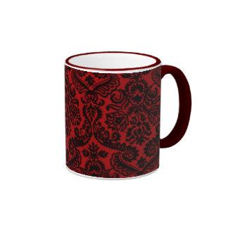 Caneca ornamentado vermelha