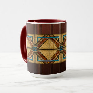 Caneca Ornamento quadrados do art deco