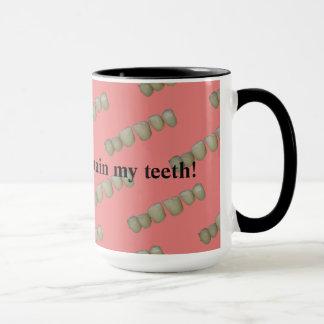 Caneca Ortodontia podre da odontologia do dentista dos