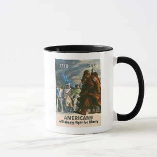 Caneca Os americanos lutarão sempre pela liberdade