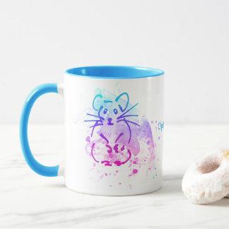 Caneca Os hamster - aguarela minimalista moderna -