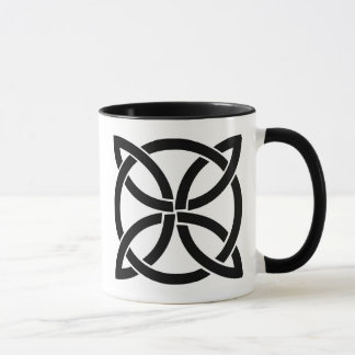 Caneca pagan antigo do símbolo de ireland do nó celta