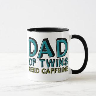 Caneca Pai da cafeína da NECESSIDADE dos gêmeos