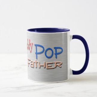 Caneca Pai do pop da papá do pai