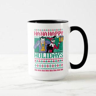 Caneca Palhaço de Batman | boas festas & Harley Quinn