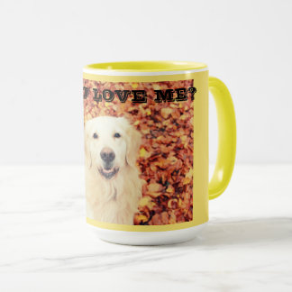 Caneca para amantes do cão com golden retriever
