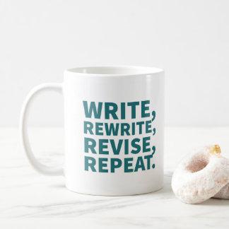 Caneca para escritores: Escreva, reescreva,