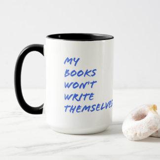 Caneca para escritores: Meus livros não se