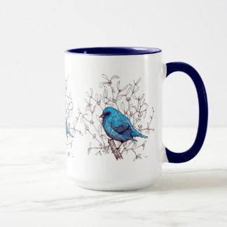 Caneca Pássaro azul