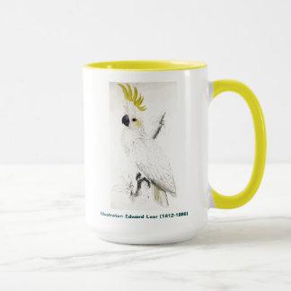 Caneca Pássaro de Edward Lear menos Cockatoo com crista