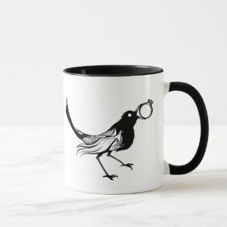 Caneca Pássaro do branco do preto do copo de café